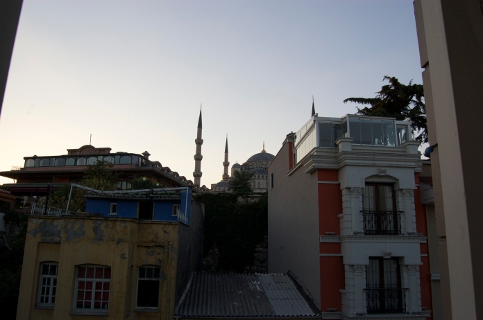 The view from room 201, Hotel Seraglio, Sultanahmet.