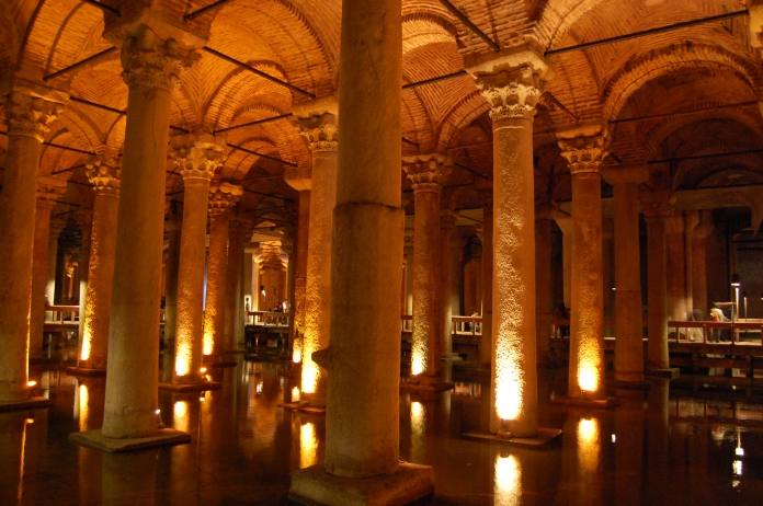 The Basilica Cisterns once supplied water to the Sultans.