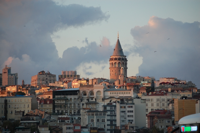 Galata Tower from across the Golden Horn.