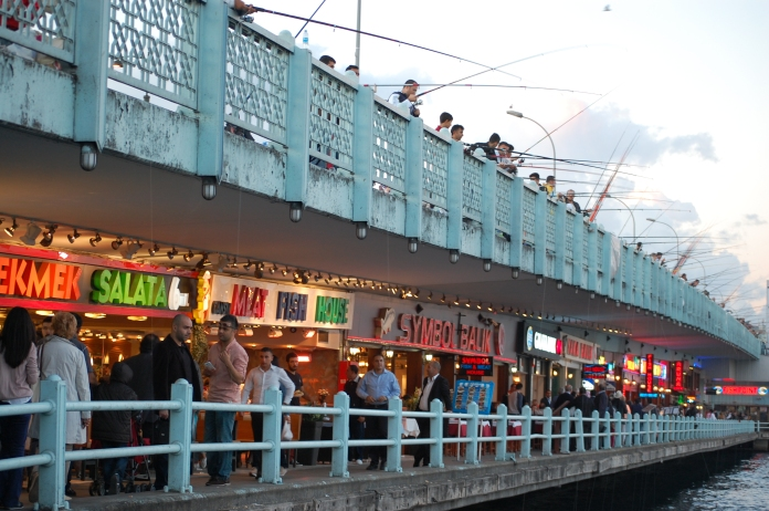 Galata Bridge, lower level.
