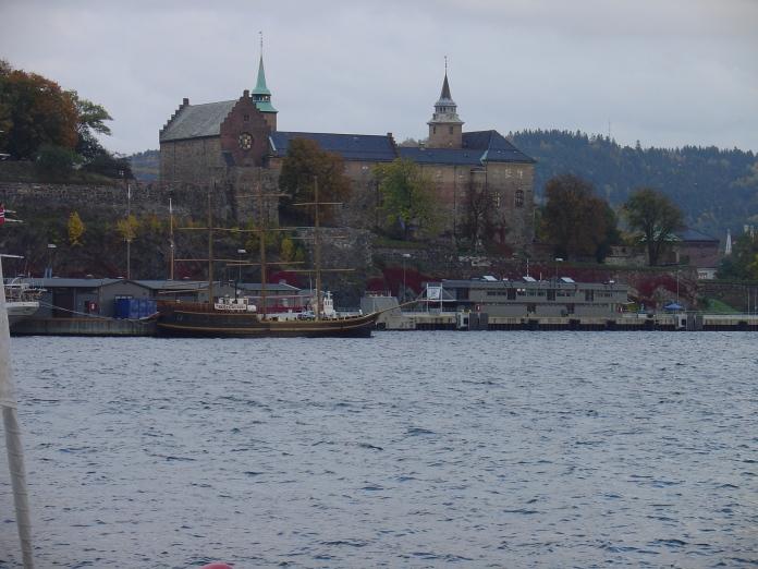Akershus Fortress overlooks Oslo Harbor