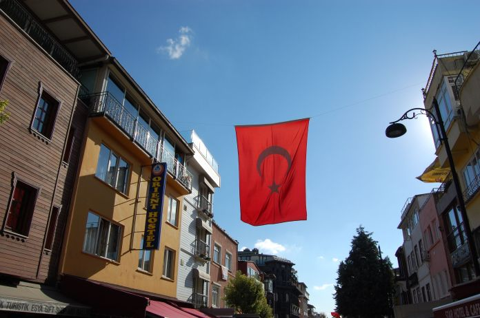 The beautiful Turkish flag can be seen everywhere.